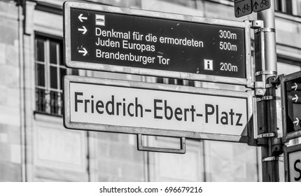 Street sign Friedrich Ebent Platz in Berlin