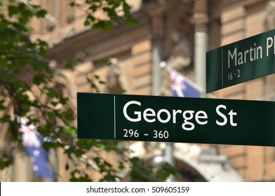 Street sign of George Street in Sydney New South Wales, Australia