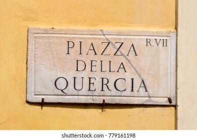 Street Sign in the heart of Rome, Italy