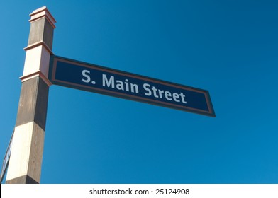 Street sign indicating the name of the road