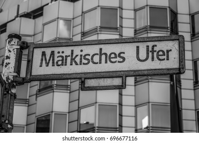 Street sign Maerkisches Ufer in Berlin