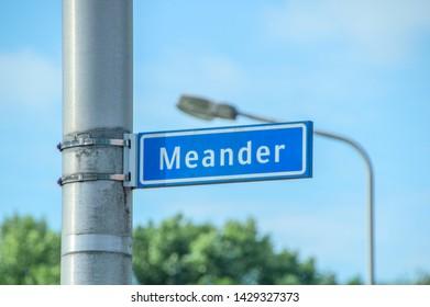 Street Sign Meander At Amstelveen The Netherlands 2019
