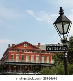 A street sign in New Orleans, Louisiana - Pirates Alley.