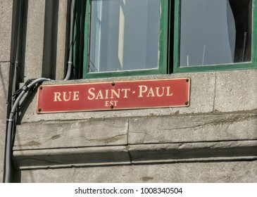 Street sign in Old Montreal