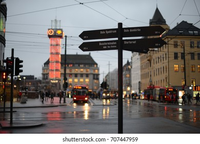 Street Sign in Oslo, Norway