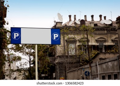 Street Sign for Parking