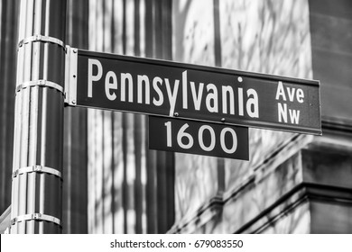 Street sign - Pennsylvania Avenue in Washington DC