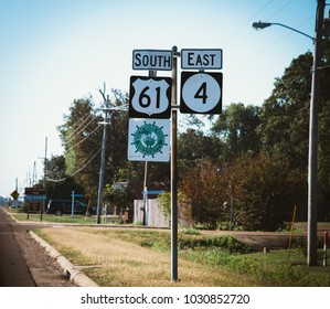 Street sign South North in America