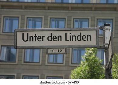 Street sign Unter den Linden