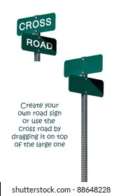 Street signs with a clipping path for simple removal and manipulation.