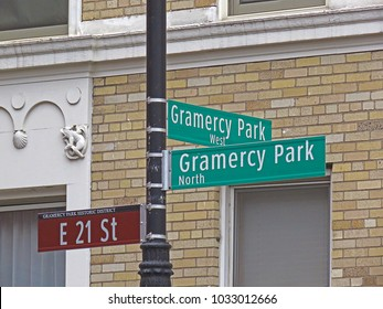Street Signs in the Gramercy Park Section of New York City, New York