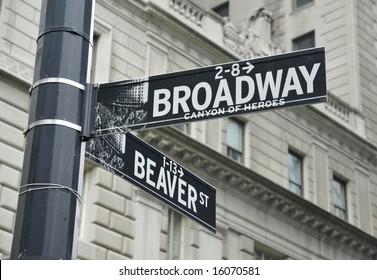 Street Signs in Lower Manhattan, NYC