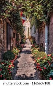 Street in the small village of Saint Paul De Vence