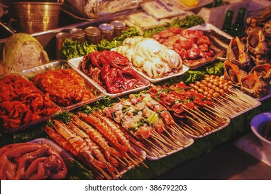 Street stall in Korea