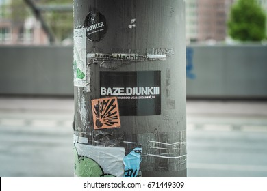 Street sticker / street label / June 2017 / Hamburg Germany
