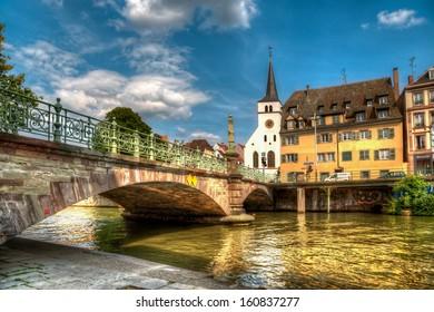 Street of Strasbourg. City view.