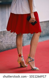Street style concept at Fashion Week