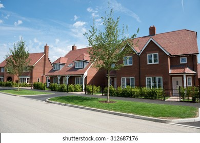 Street of suburban houses