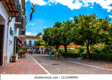 Street. A sunny day in the street of Marbella. Malaga province, Andalusia, Spain. Picture taken – 12 june 2018.