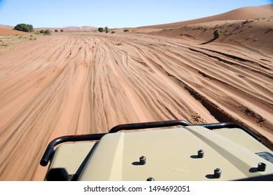 Street through the desert of Namibia