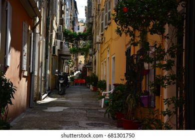 Street in the town of Corfu Greek