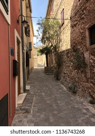 Street in the town Skradin in Croatia