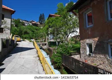 The street in Travnik, Bosnia and Herzegovina