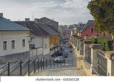 Street of Uzhhorod, Ukraine.