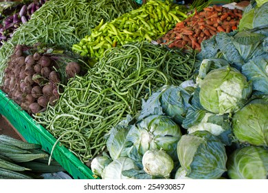 Street vegetable vendor at Sri-lanka sells a wide range of vegetables