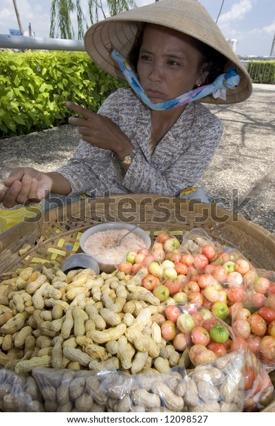 street vendor in Can Tho, Vietnam