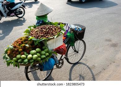 The street vendor in early morning in Hanoi, capital of Vietnam