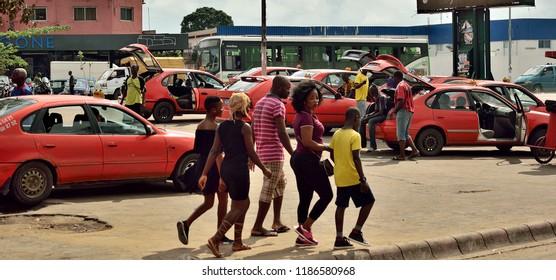 street view in Abidjan, 23 September 2018, ivory coast