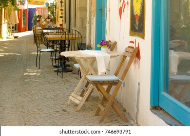 Street view of Alacati district of Cesme.Alacati  is a popular destination for traveling and vacation in Izmir,Turkey