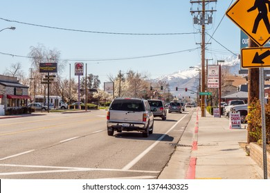 Street view in Bishop California - BISHOP, UNITED STATES OF AMERICA - MARCH 29, 2019