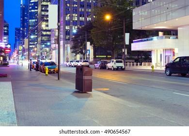 Street View, Cities Buildings in Toronto, Ontario, Canada