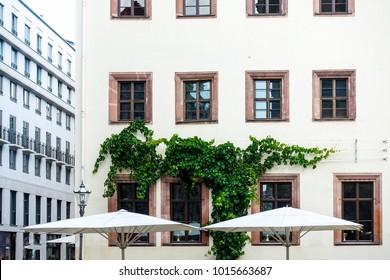 street view of downtown Leipzig, Germany