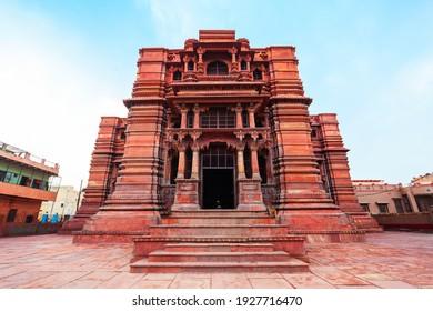 Street view of the Govind Dev Ji Temple is a Hindu temple dedicated to Lord Krishna in Vrindavan near Mathura city in Uttar Pradesh state of India - Shutterstock ID 1927716470