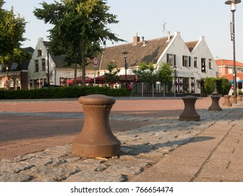 Street view at the harbor in the city of Nijkerk in the province Gelderland, Holland, NLD