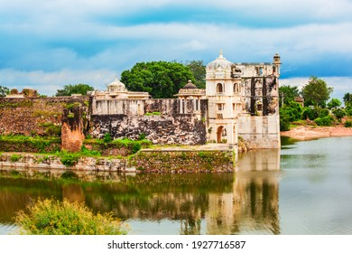 Street view of the Maharani Shri Padmini Palace in Chittor Fort in Chittorgarh city, Rajasthan state of India