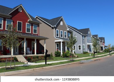 street view of neighborhood houses