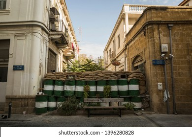 A street view from Nicosia, Republic of Cyprus, October 28, 2016. Nicosia has the most dead end streets in the world. Barricades stand just before the Buffer Zone.