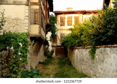 A street view with old houses from Yoruk village, in Safranbolu Turkey.
