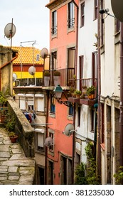 Street view of old town Porto, Portugal Europe