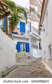 Street view on Skiathos island, Greece