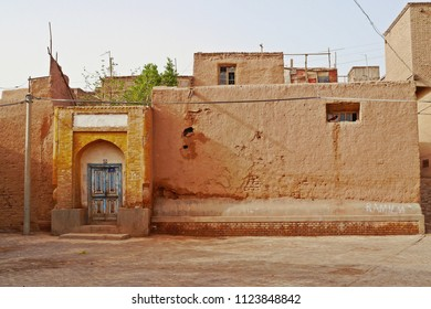 Street view and renovated buildings in Kashgar Ancient Town, Xinjiang, China.