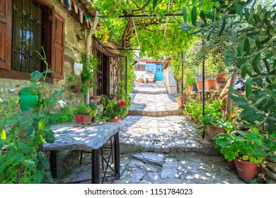 Street view of Sirince village in Izmir providence, Turkey