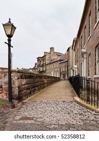 Street view of the walk around the walls at Berwick Upon Tweed
