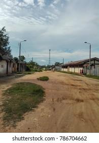 Street in the village Lagunas, Amazon Basin, Peru