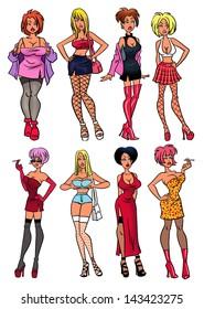 Street whores.