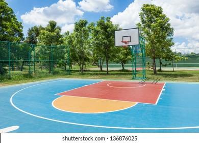 Streetball basketball game